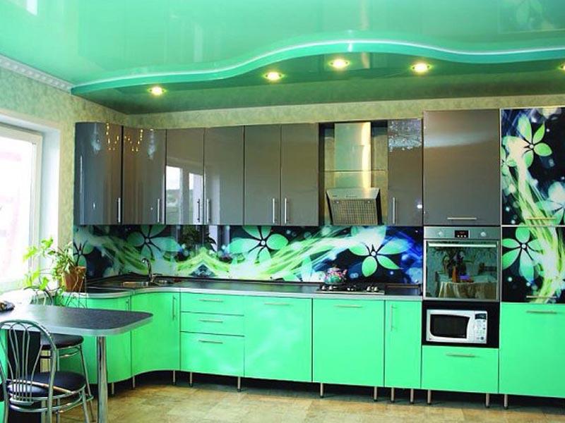 Кухня с фотопечатью Каролина