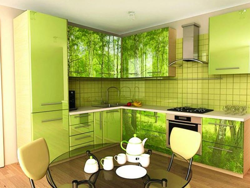 Кухня с фотопечатью Анисья