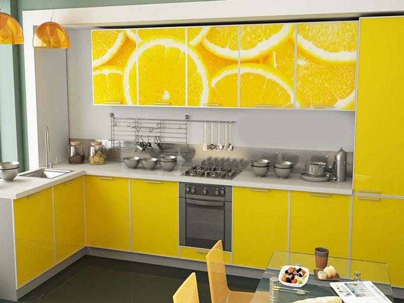 Кухня с фотопечатью Берта