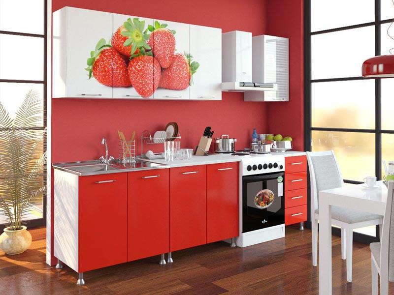 Кухня с фотопечатью Екатерина