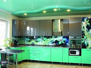 Кухня с фотопечатью «Каролина»