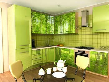 Кухня с фотопечатью «Анисья»
