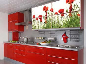 Кухня с фотопечатью «Лариса»