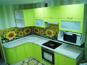 Кухня с фотопечатью «Ирина»