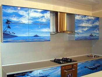 Кухня с фотопечатью «Варвара»