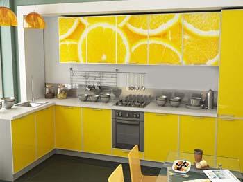Кухня с фотопечатью «Берта»