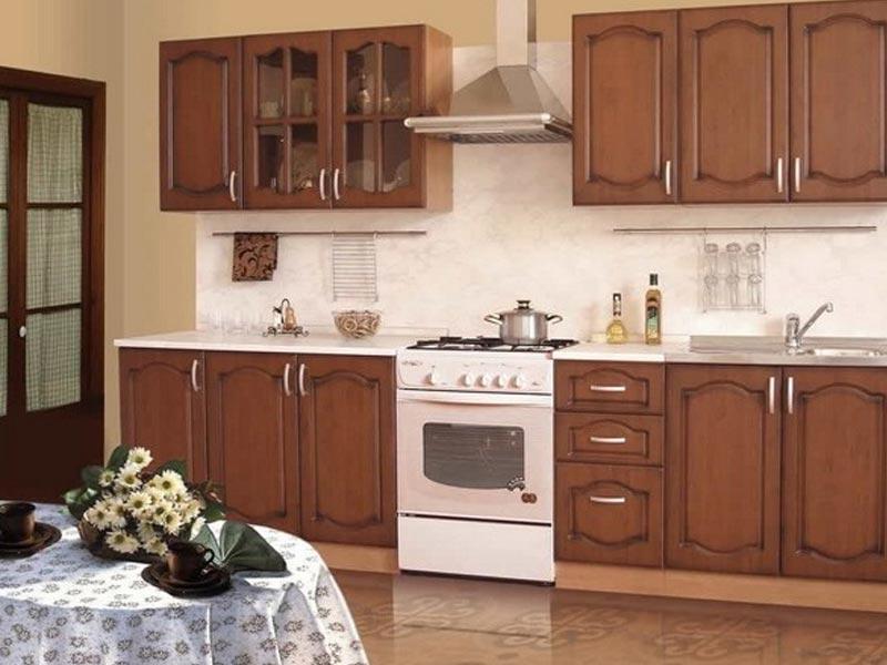 Кухня с фасадами ПВХ Франческа