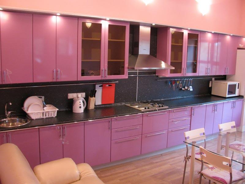 Кухня с фасадами ПВХ Анжелика