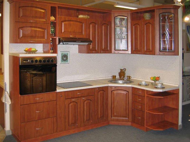 Кухня с фасадами ПВХ Сандра